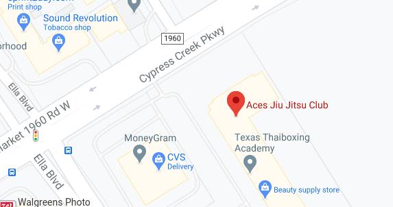 Aces Jiu Jitsu Club Spring Houston Texas Map Snapshot