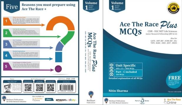 Ace The Race PLUS MCQs for  CSIR-UGC NET Life Sciences Volume 1
