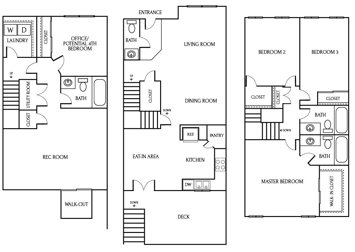 6962 Village Stream Place, Gainesville VA 20155 - Floorplans and Layout