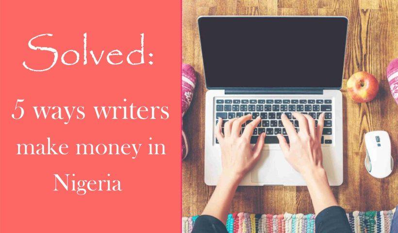 How writers make money