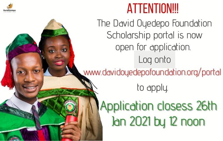 David Oyedepo Foundation Undergraduate Scholarship 2021 For Young Africans