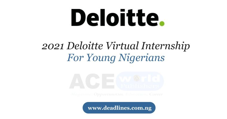 2021 Deloitte Virtual Internship For Young Nigerians