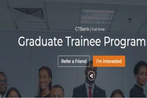 Guaranty Trust Bank Graduate Trainee Programme