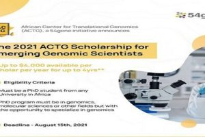 ACTG Academic $4,000 Scholarship 2021/22 for African Scientists