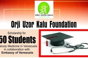 Orji Uzor Kalu Foundation Full Scholarship 2021