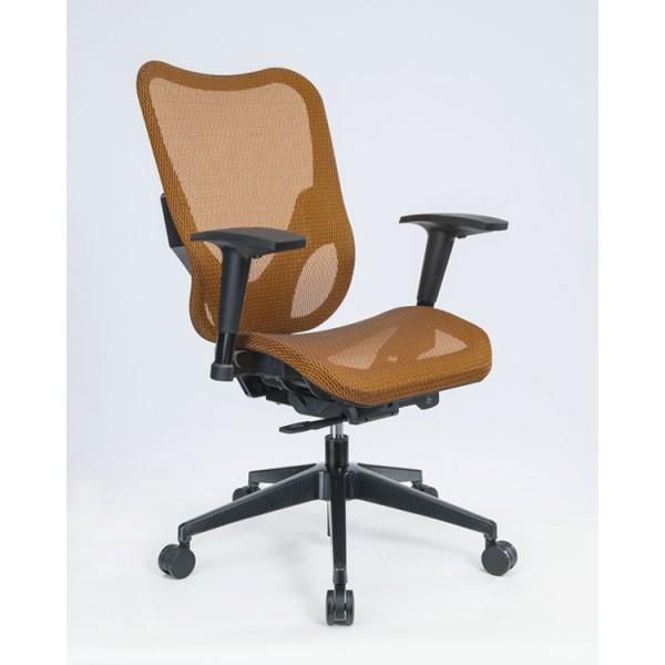 orange office chair light blue accent chairs ergonomic mesh