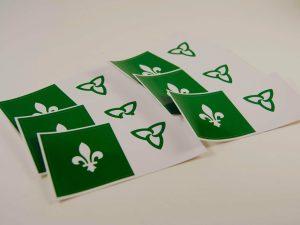 Collants drapeau franco ontarien