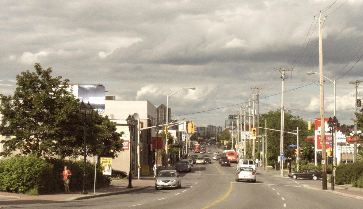Photo du chemin Montreal à Vanier