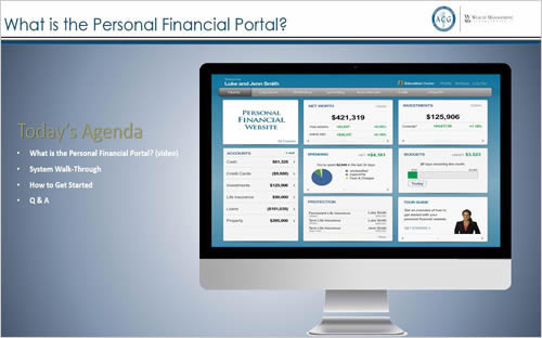 Benefit Webinar: Personal Financial Portal