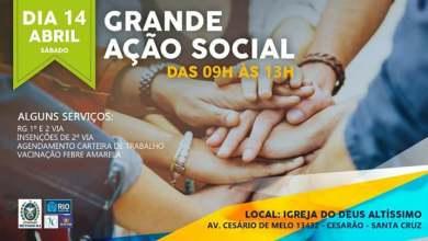 Photo of AÇÃO SOCIAL NA ZONA OESTE!!! NÃO PERCAM!!! EMPREGO!!! CURSOS!!! LEIA…
