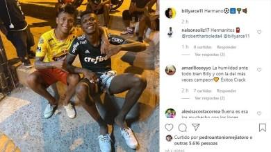 Photo of Arboleda, do São Paulo, aparece em foto vestindo a camisa do Palmeiras