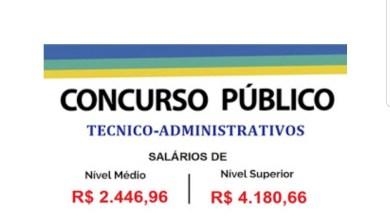 Photo of Aberto Concurso Público para níveis médio e superior. Salários até R$ 4.180,66