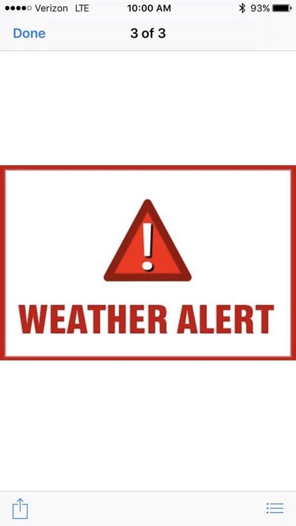 Winter Weather Alert - updated - Achasta Golf & Real ...