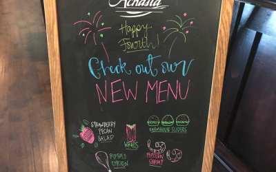 New Achasta Grille Menu