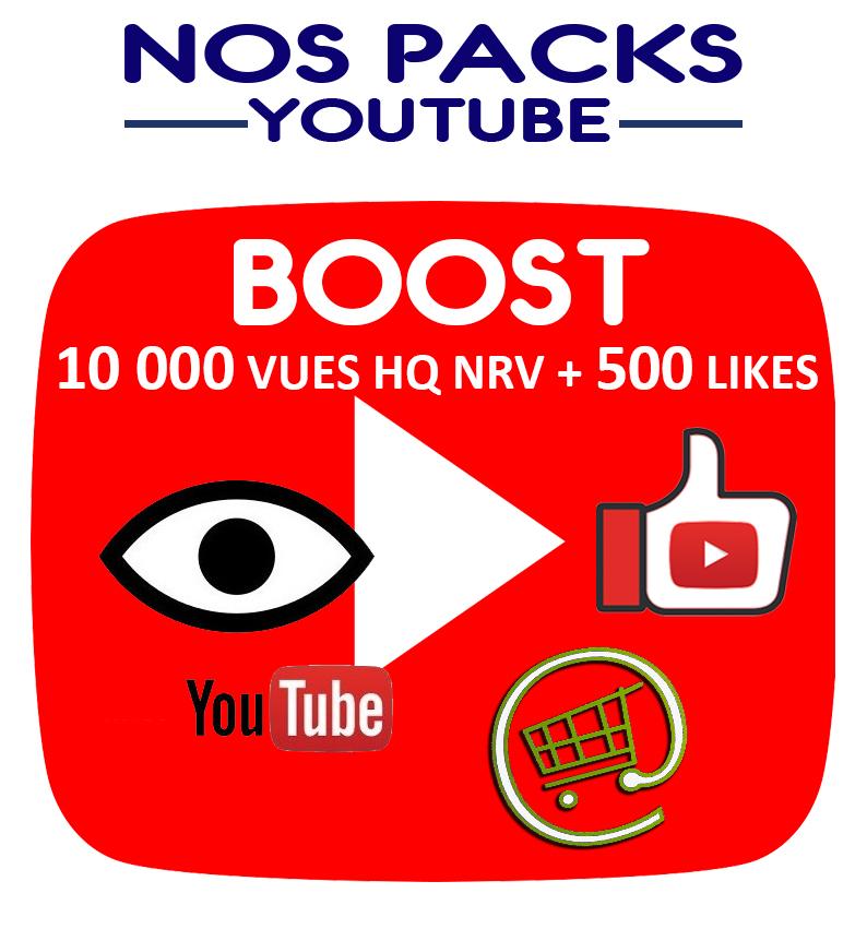 Notre Pack Boost vous donne l'opportunité de combiner l'efficacité des vues et des likes youtube