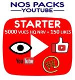 Notre pack Starter associe des vues et des likes vidéo you tube pour une meilleure pertinence