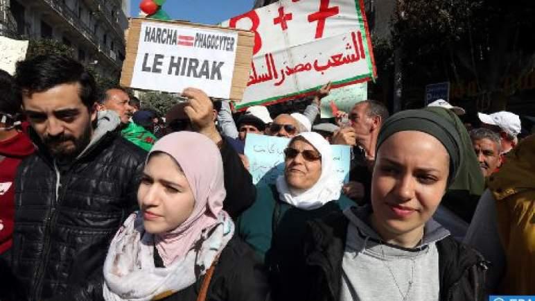 مئات الطلبة يتظاهرون بالجزائر العاصمة للمطالبة برحيل النظام