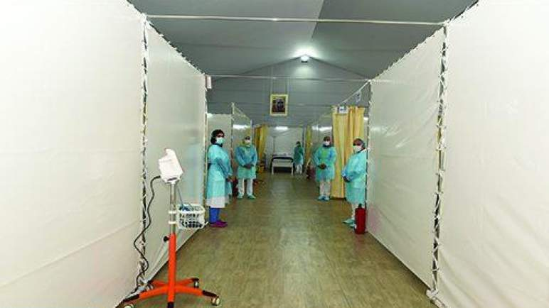 مراكش.. أشغال إنجاز المستشفى الميداني الإضافي للتكفل بحالات الإصابة بـ (كوفيد-19) تتقدم بوتيرة عالية