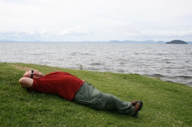 A rest by Lake Taupo