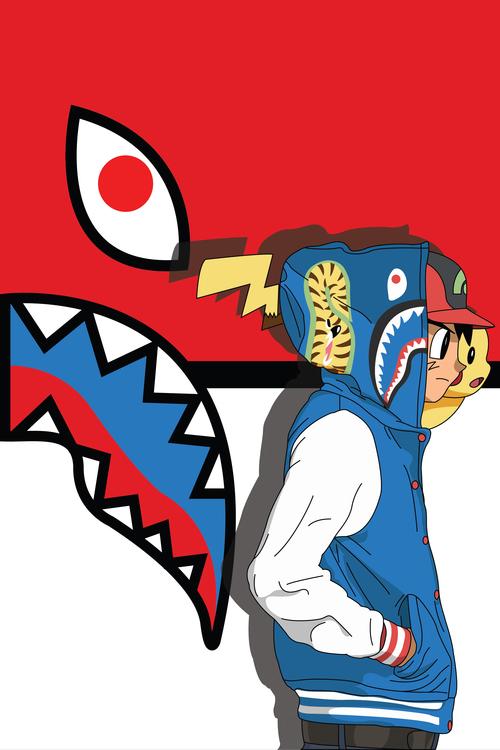 Abi X BAPE Childhood artwork series chöok