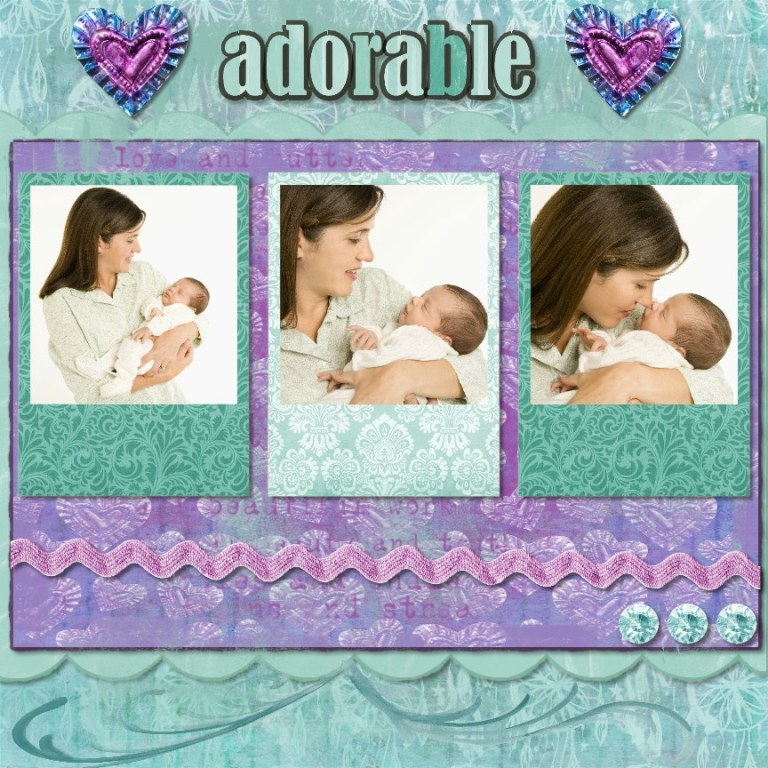 New baby scrapbook page