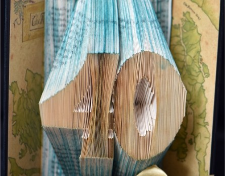 40th birthday altered book art