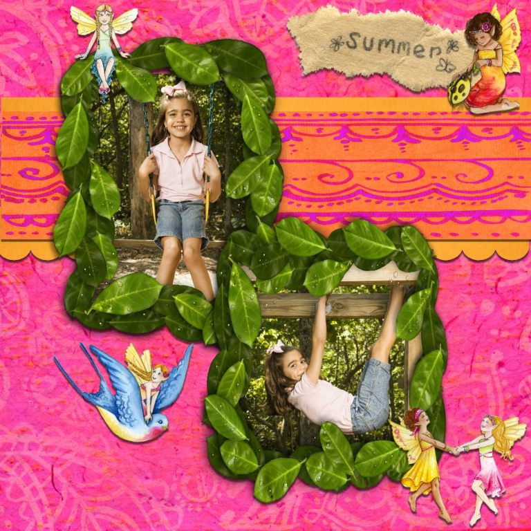 Summer scrapbook page Craftartist 2 professional