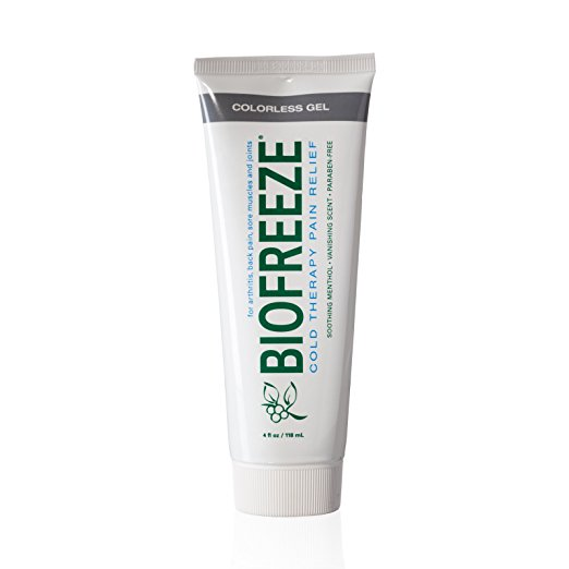 Biofreeze bottle in gel form