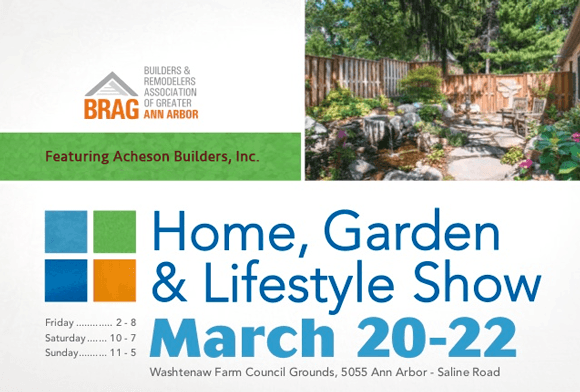 advertising art for 25th Annual Home Garden & Lifestyle Show 2015 Ann Arbor Michigan