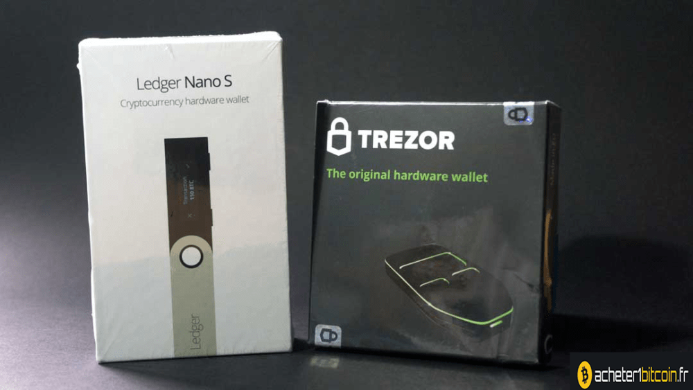 trezor ou ledger nano s emballage