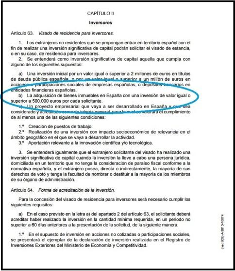 Golden Visa de résidence acheter en Espagne immobilier