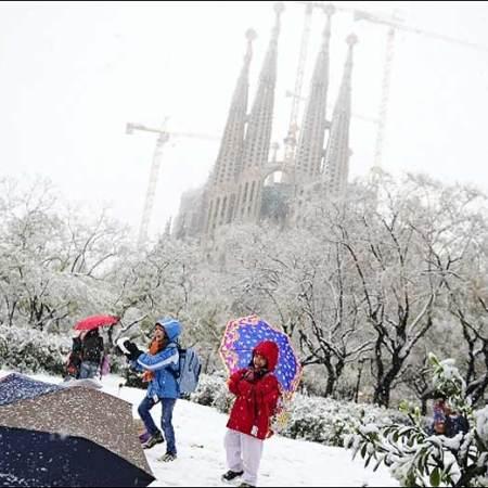 lutter contre le froid neige Barcelone acheter immobilier espagne