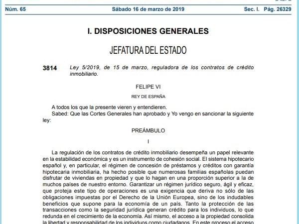 Tout Sur La Nouvelle Loi Sur Les Hypotheques En Espagne