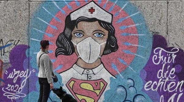 Street Art Covid et Immobilier Coronavirus acheter en Espagne 004