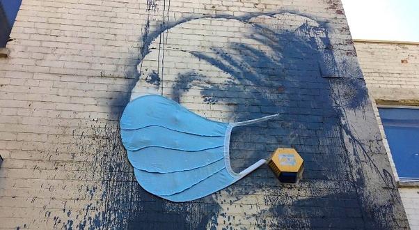 Street Art Covid et Immobilier Coronavirus acheter en Espagne 008