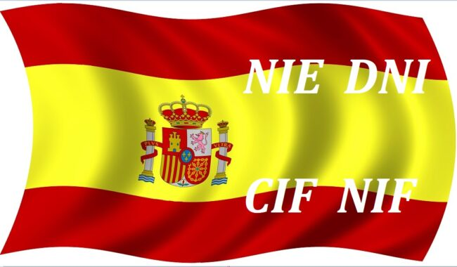 NIE DNI CIF NIF acheter immobilier en Espagne