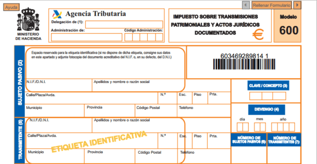 l'ITP impuesto ITP acheter immobilier en Espgne