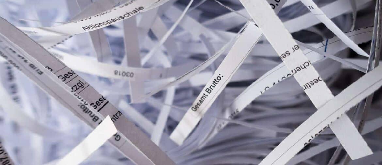 Déchiqueteuse - Recyclage du papier