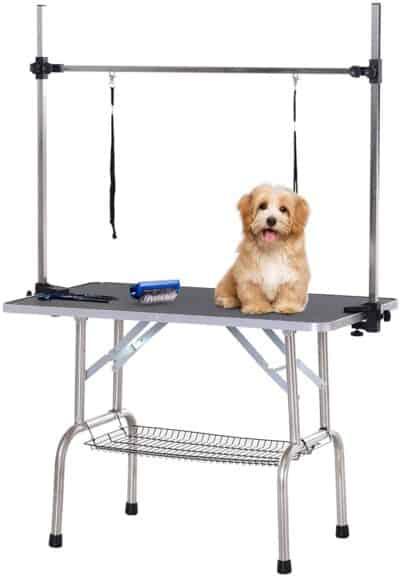 Table de toilettage pour chien_Pawhut D01-027BK