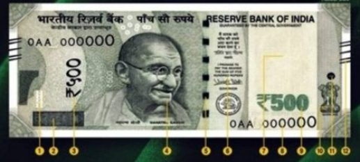 500 hundred note front side,
