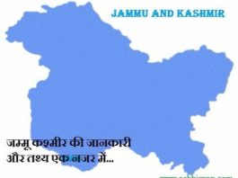 जम्मू कश्मीर की जानकारी और तथ्य - Information & History of Jammu and Kashmir in Hindi