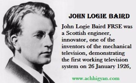 टेलीविजन अविष्कारक जॉन लॉगी बेयर्ड | John Logie Baird Biography In Hindi