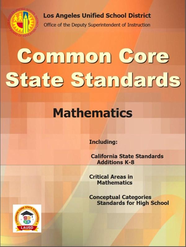 Common Core Math Standards California