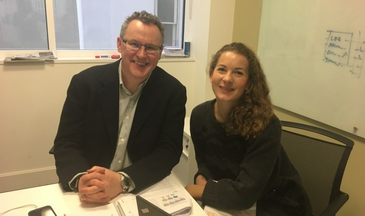 Frank Dulson and Hanna Jacobsson at AchieveForum's Resilience Webinar