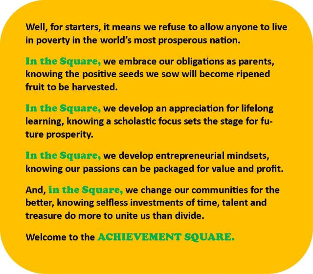 Welcome to the ACHIEVEMENT SQUARE