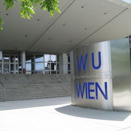 The Wirtschaftsuniversitat Wien entrance