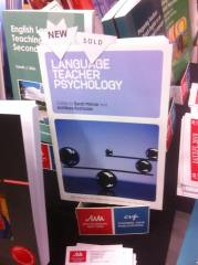 A copy of Language Teacher Psychology on display at BAAL2018