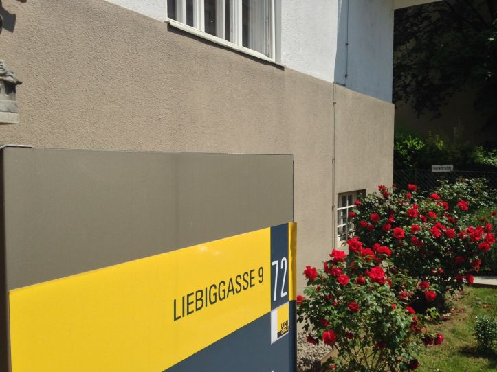 Entrance sign of the ELT Research and Methodology section at the University of Graz