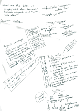 Handwritten meeting notes (Achilleas Kostoulas, Critical Skills for Life and Work steering group meeting, July 2018)