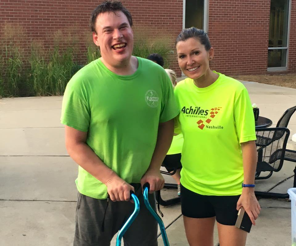 Athlete Austin Crymes with Guide Rachel Bohrer